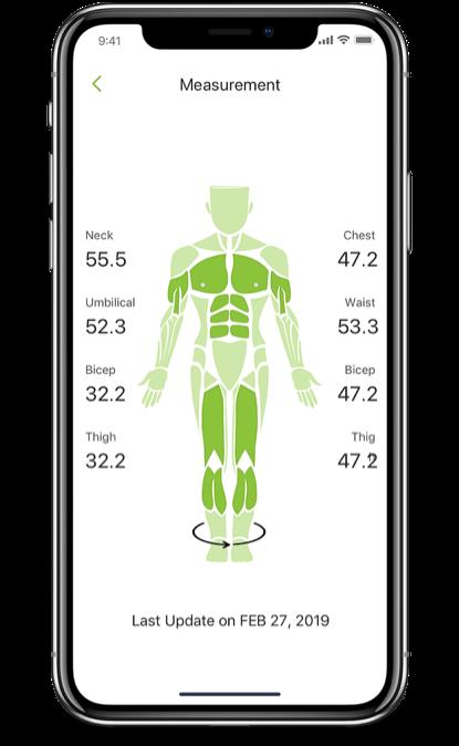 Client body measurement app